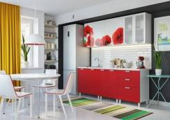 Кухня Маки 1800 (Белый/Красный)