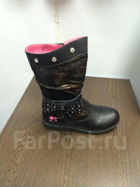0231f8a59 Продам сапоги весенние черные с боку бант размер 33 - Детская обувь ...