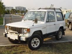 Ремень безопасности. Mitsubishi Pajero, L044GV Двигатель 4D56
