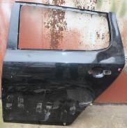 Дверь задняя левая черная Skoda Fabia 5J 2007-2014 5J6833051 дефект