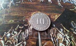 Старая Германия. 10 пфеннигов 1913 года. А.