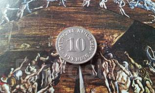 Старая Германия. 10 пфеннигов 1914 года. А. Редкий год! Первая Мировая