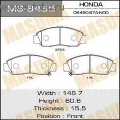 Колодка тормозная дисковая. Honda: Edix, Stream, FR-V, Accord, Civic Двигатели: D17A2, N22A1, K20A9, K20A3, R18A1, R16A2, R18A2, R16A1