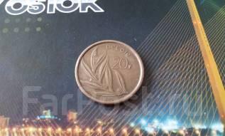Бельгия. 20 франков 1980 г. Толстячок! Большая красивая монета!