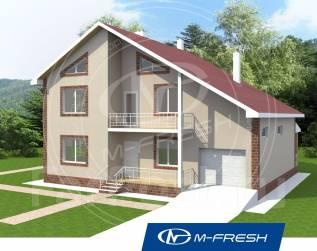 M-fresh Atlantic (Посмотрите проект дома со встроенным гаражом! ). 200-300 кв. м., 2 этажа, 5 комнат, комбинированный