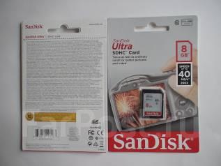 Карты памяти. 8 Гб, интерфейс, Ultra SDHC
