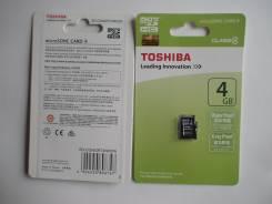 Карты памяти. 4 Гб, интерфейс Micro SDHC