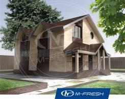 M-fresh Original (Покупайте сейчас проект со скидкой 20%! ). 100-200 кв. м., 2 этажа, 3 комнаты, каркас