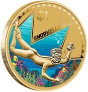 1 доллар Австралия 2013 год. Снорклинг.