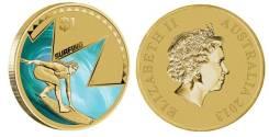 1 доллар Австралия 2013 год . Сёрфинг.