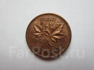 Канада 1 цент 1963 года.