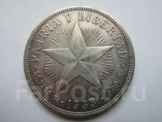 Куба 1 песо 1933 года. Серебро.