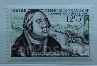 1956 Франция. День марки. Франц фон Таксис-основатель почты. 1м Чистая