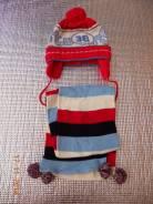 Шапка и шарф. Рост: 68-74 см