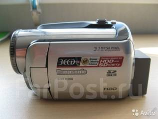 Panasonic SDR-H250. Менее 4-х Мп, с объективом