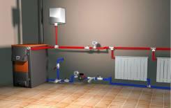 Монтаж систем отопления, водоснабжения, Сантехработы, септики, бурение