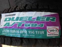 Bridgestone Dueler A/T D694. Грязь AT, 2015 год, без износа, 3 шт