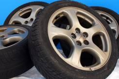 83894 Оригинальные крепкие диски от Subaru с летними шинами. 7.0x17 5x100.00 ET55