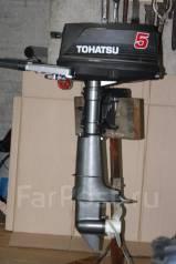 Tohatsu. 5,00л.с., 2-тактный, бензиновый, нога S (381 мм), Год: 2008 год