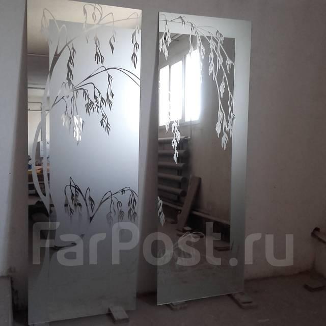 фото пескоструйные рисунки на зеркале