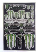 Набор наклеек на пластик мотоцикла monster energy