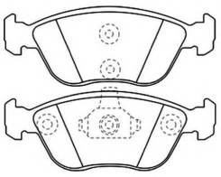 Тормозные колодки передние VOLVO 850 C70 S70 V70 Akyoto AKD-1021