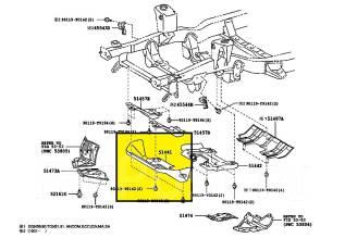 Защита двигателя. Toyota Hilux, LAN15, GGN15 Toyota Fortuner, GGN50, TGN51, LAN50