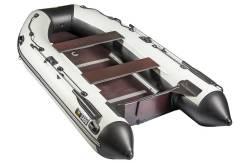 Ривьера 3400 СК Касатка черно/светло-серая (складная слань+киль). длина 3,40м., двигатель подвесной, 20,00л.с., бензин