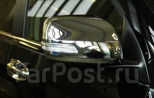Накладка на зеркало. Toyota Land Cruiser Prado, GDJ150, GDJ150L, GDJ150W, GRJ150, GRJ150L, GRJ150W, GRJ151W, KDJ150, KDJ150L, LJ150, TRJ120, TRJ150, T...