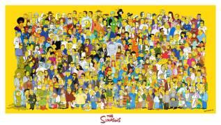 "Плакат ""Симпсоны, все герои"". ""The Simpsons""."