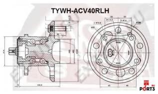 Ступица. Toyota: Windom, Avalon, Solara, Camry, Kluger V, Highlander Двигатели: 1MZFE, 2GRFE, 2AZFE, 3MZFE, 1AZFE, 2ARFE, 2AZFXE