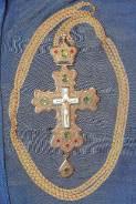 Крест наперсный протоиерейский с украшениями. Россия, 1970-е гг. Оригинал