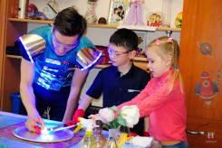 Полезный праздник для детей в научном стиле