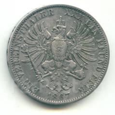 Германия - Пруссия талер 1867 А Серебро