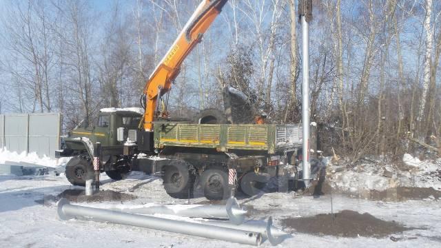 Монтаж винтовых свай Любых от 76 мм до 325 мм УБМ-85