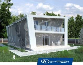 M-fresh Iceberg-зеркальный (Свежий проект дома с односкатной кровлей! ). 200-300 кв. м., 2 этажа, 5 комнат, бетон