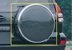 Чехол для запасного колеса. Toyota Land Cruiser Prado, LJ120, KDJ120W, TRJ120W, KZJ120, GRJ120, TRJ120, RZJ120W, GRJ120W, VZJ120, KDJ120, RZJ120, VZJ1...