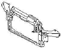 Рамка радиатора. Skoda Fabia