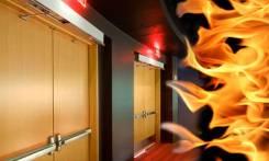 Установка противопожарных дверей.