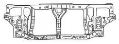 Рамка радиатора. Honda Prelude, BB4, BB1, BA9, BA8 Двигатели: H22A, F22B