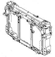 Рамка радиатора. Mazda CX-5, KE5FW, KE2FW, KE5AW, KE, KEEAW, KEEFW, KE2AW Двигатели: PYVPS, SHVPTS, PEVPS