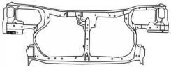 Рамка радиатора. Nissan Almera, N16