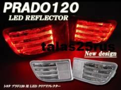 LED Фонари ( Доп. стопы ) в задний бампер Toyota Surf 215 ( Белые ). Toyota Hilux Surf, KDN215, RZN210, TRN215, TRN210, GRN215, TRN210W, KDN215W, GRN2...