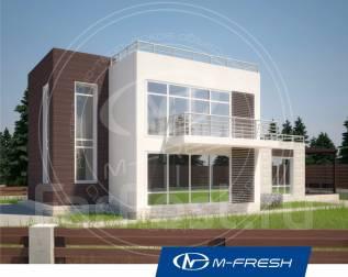 M-fresh Tiёsto! -зеркальный (Проект дома с солнечными витражами). 200-300 кв. м., 2 этажа, 4 комнаты, бетон
