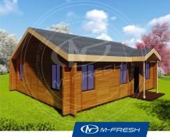 M-fresh Optimist (Готовый проект дома из клееного бруса! ). 100-200 кв. м., 1 этаж, 4 комнаты, дерево