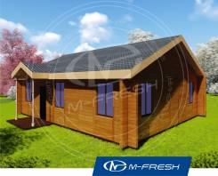 M-fresh Optimist-зеркальный (Проект деревянного дома). 100-200 кв. м., 1 этаж, 4 комнаты, дерево