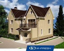 M-fresh Ideal (Проект двухэтажного дома с фронтонами). 200-300 кв. м., 2 этажа, 4 комнаты, бетон
