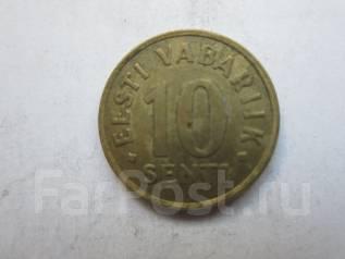 Эстония 10 сентов 1991 года.
