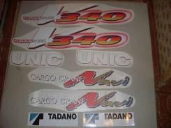 Наклейки логотипы Unic, Tadano, KATO, ShinMaywa. Kato Tadano Unic. Под заказ
