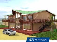 M-fresh Drive ibiza (Проект дома отдыха на природе для Вас! ). 300-400 кв. м., 2 этажа, 10 комнат, каркас